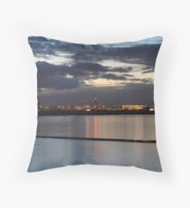 Sydney Airport Dusk Takeoff Throw Pillow