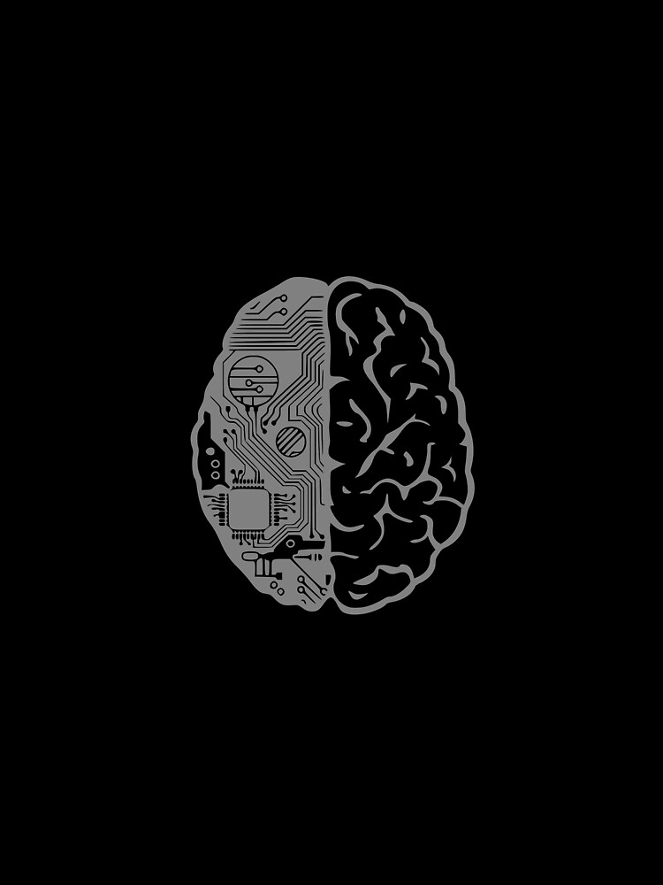 Coding Brain in Grey by 0tdesigns