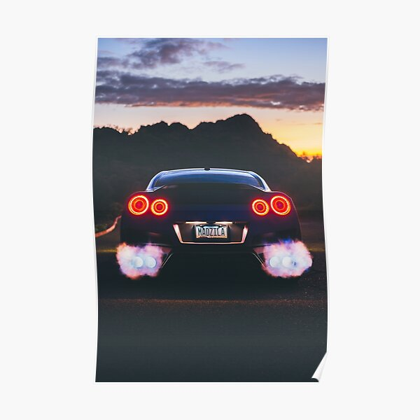 GTR Flame Thrower Poster