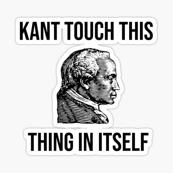 Funny Immanuel Kant Philosophy Teacher Student Gift Sticker