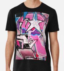 GRAFFITI POPART STREETART MIT STERN PINK Premium T-Shirt