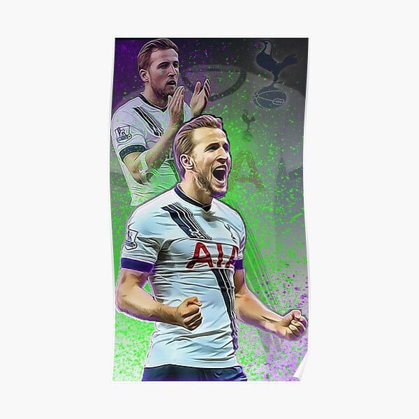 Decal Harry Kane Wall Art Sticker in Full Colour Mural in 4 x sizes