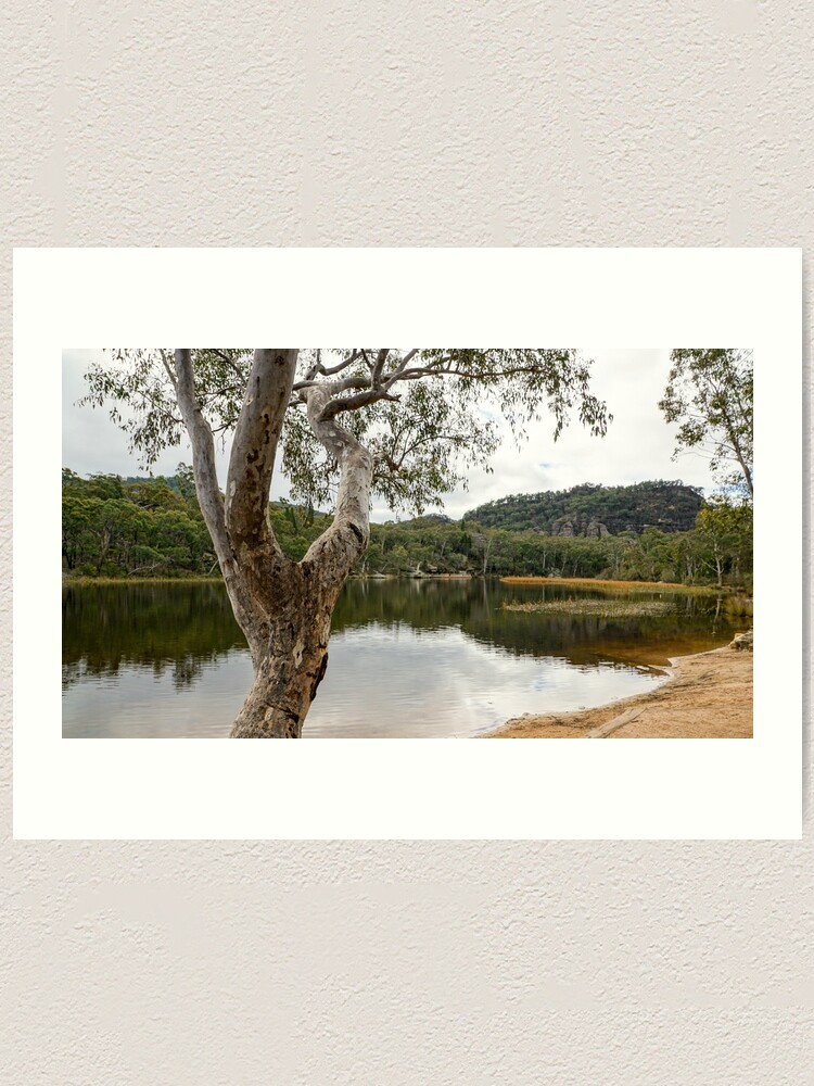 Alternate view of Dunns Swamp, Cudgegong River, Wollemi National Park, NSW Art Print