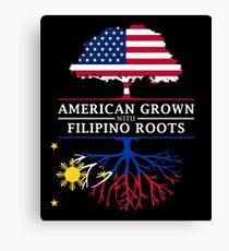 Amerikaner gewachsen mit philippinischen Wurzeln Philippines Design Leinwanddruck