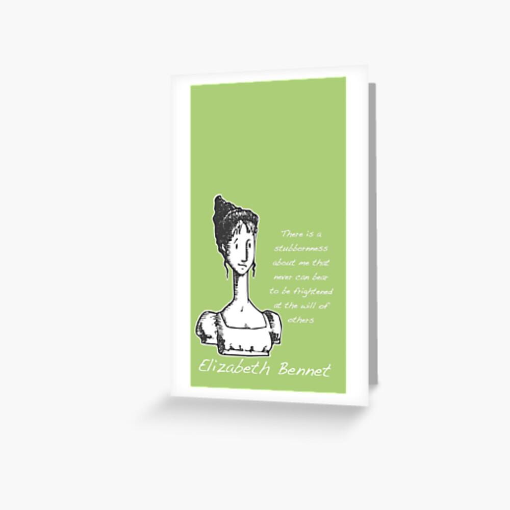 Jane Austen Elizabeth Bennet  Greeting Card