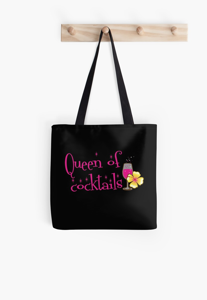 Queen of cocktails with cute tropical flower drinks by jazzydevil