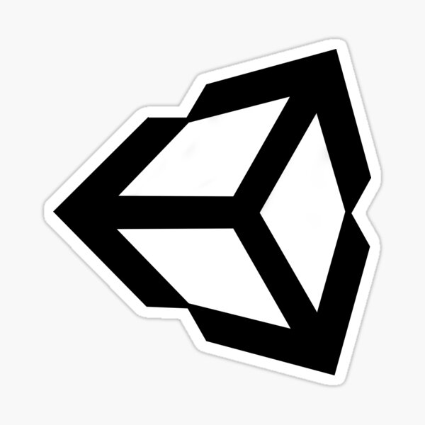 Unity Logo Game Development Design Sticker