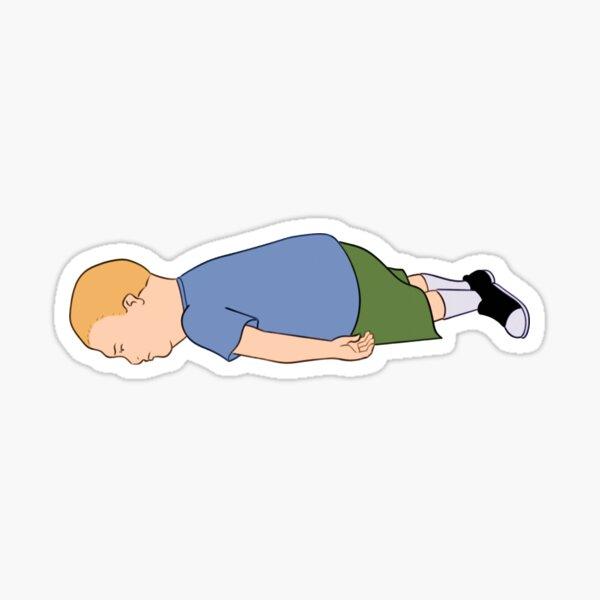 Bobby Hill Lying on the floor Sticker
