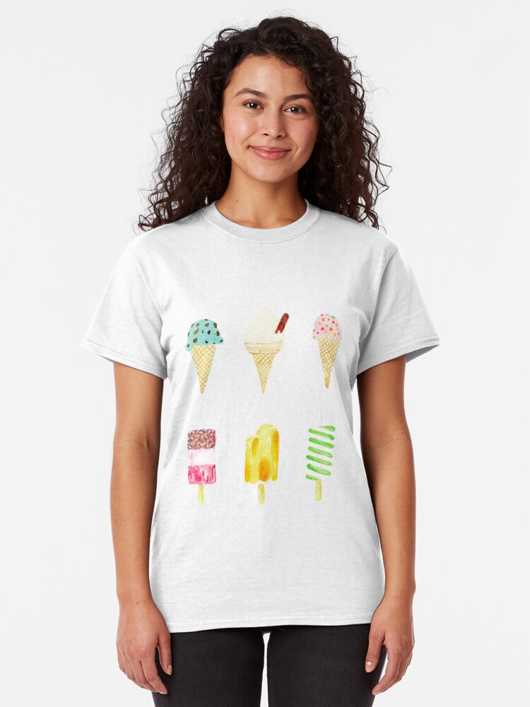 Alternate view of ice cream selection Classic T-Shirt