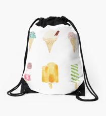 ice cream selection Drawstring Bag