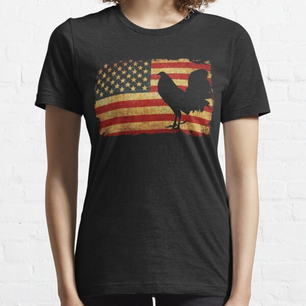 Vintage Cock Fight U.S Shirt for Men and Women T-shirt Essential T-Shirt