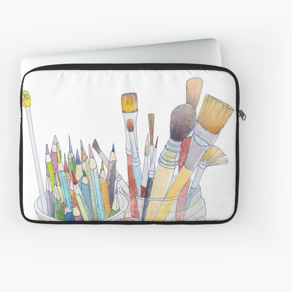 Art Tools: pencils and brushes Laptop Sleeve