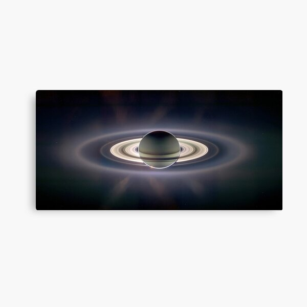 Saturn.  Taken with the sun illuminating Saturn from behind, wonderfully highlighting the rings. Canvas Print