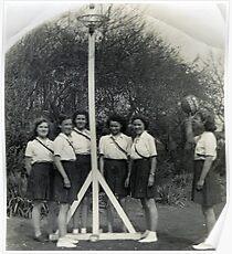 Weybridge Surrey Netball Team Poster