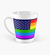 Gay USA Rainbow Flag - American LGBT Stars and Stripes Tasse (konisch)