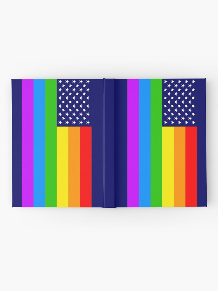 Alternative Ansicht von Gay USA Rainbow Flag - American LGBT Stars and Stripes Notizbuch