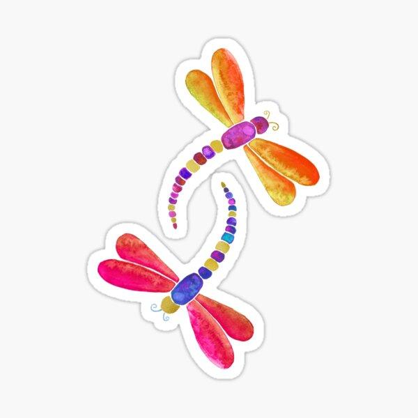 Orange Dragonfly duo Sticker