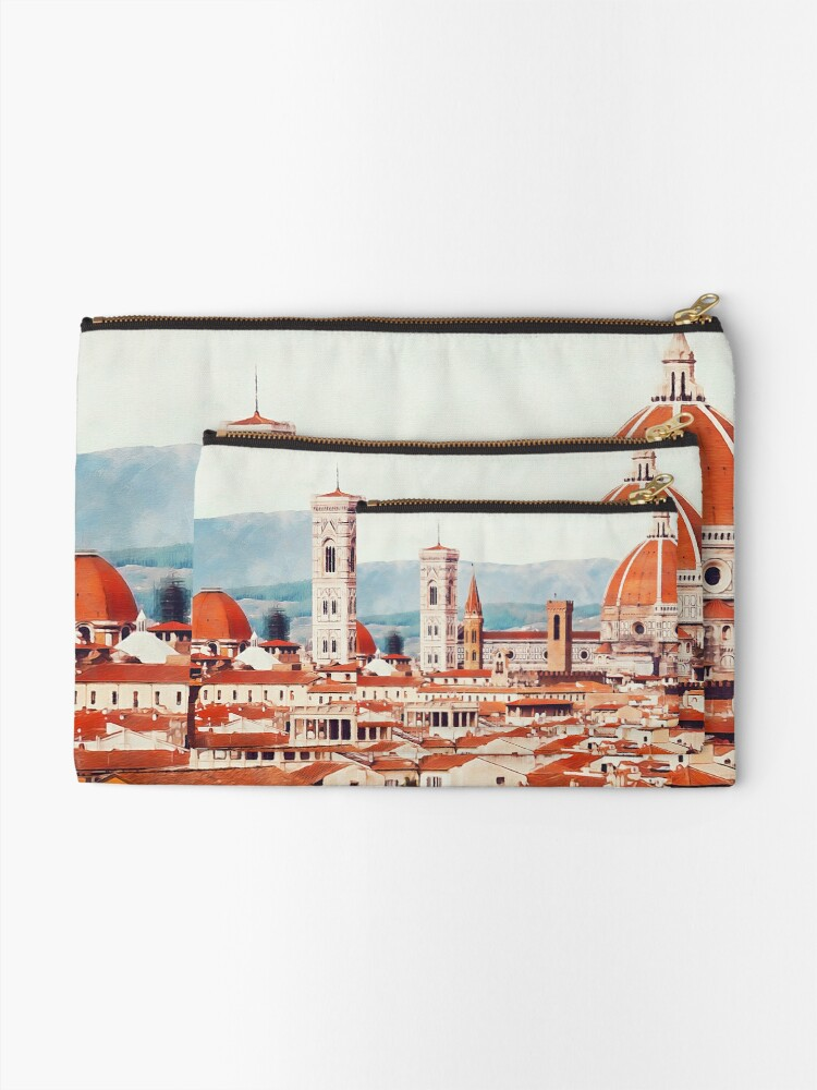 Alternate view of Florence Cityscape Zipper Pouch