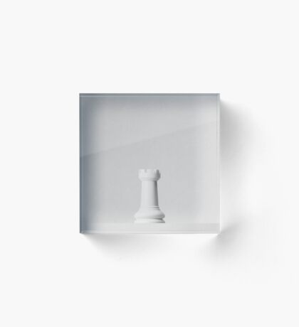 GAME OF THE THRONE / The White Rook Acrylic Block