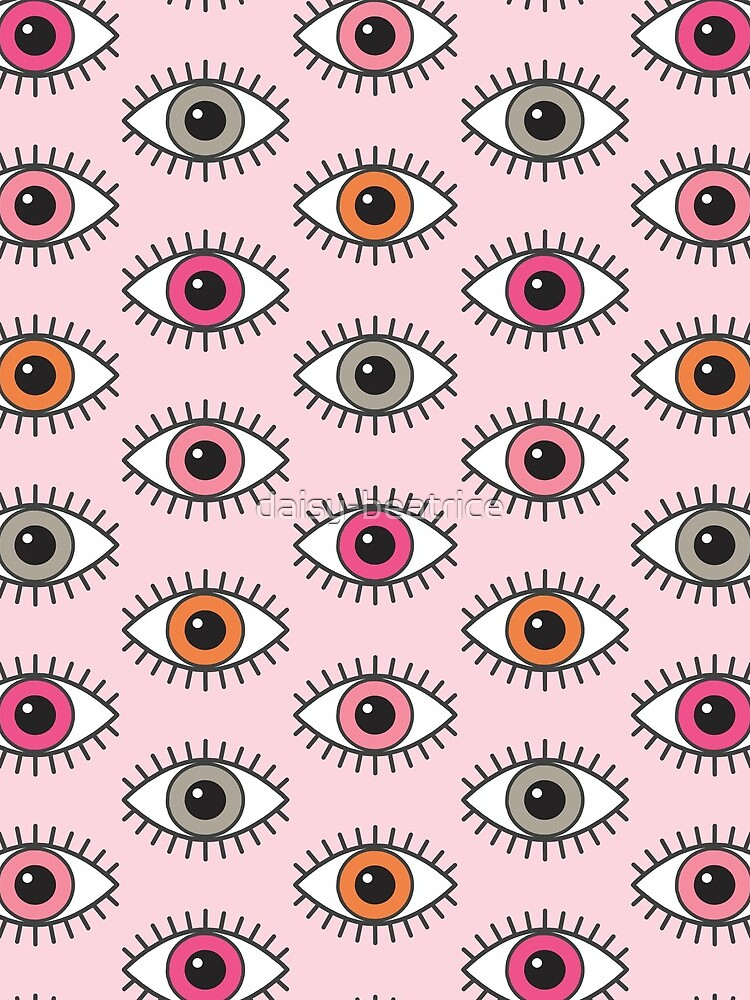 Eyes Wide Open - in Pastel Pinks by daisy-beatrice