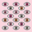 Augen weit offen - in Pastellrosa von daisy-beatrice