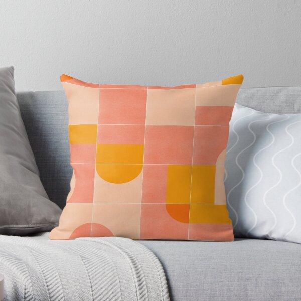 Retro Tiles 03 #redbubble #pattern Throw Pillow