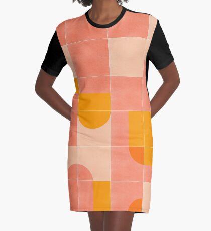 Retro Tiles 03 #redbubble #pattern Graphic T-Shirt Dress