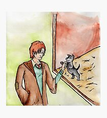 Remus Meets a Puppy Photographic Print