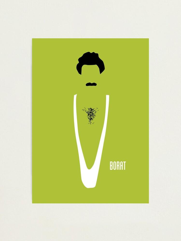 Alternate view of Borat - Alternative Movie Poster Photographic Print