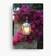 7pm...Light Comes On!! Canvas Print