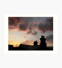 chimney top clouds Art Print