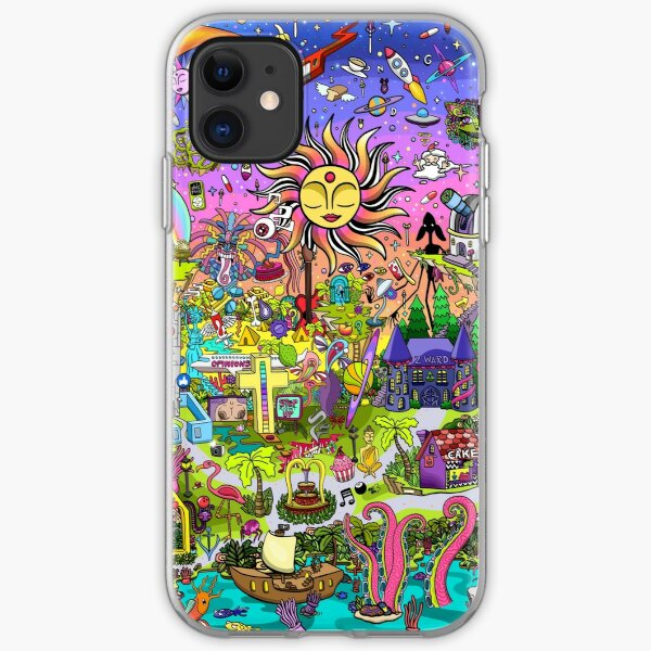 PSYCHEDELIC SUNSET REMIX iPhone Soft Case