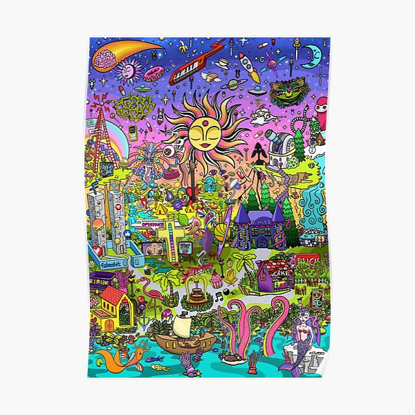 PSYCHEDELIC SUNSET REMIX Poster