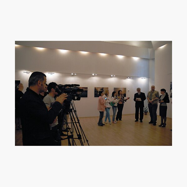 Opening My exhibition in Romania, Targoviste Photographic Print