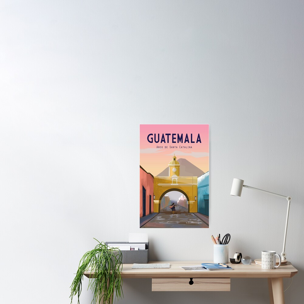 Guatemala Travel Poster ANTIGUA Guatemala Wall Décor  Poster