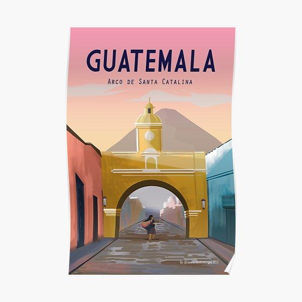 Guatemala Travel Poster ANTIGUA Guatemala Wall Décor  Poster