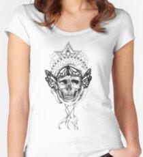 Skull Mandala Women's Fitted Scoop T-Shirt