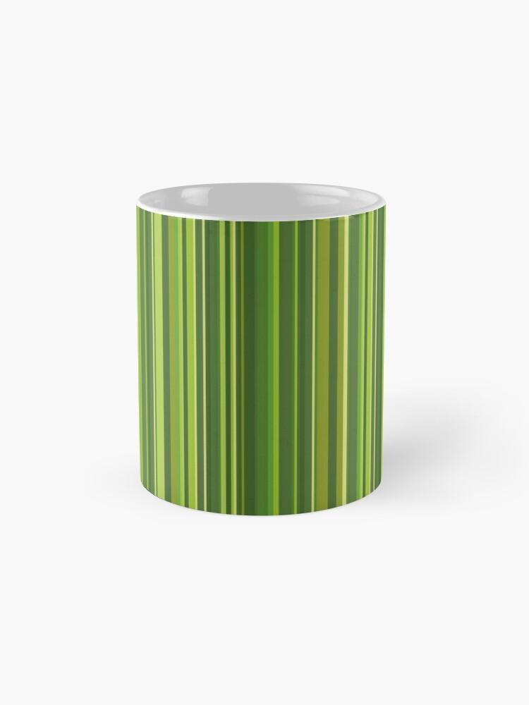 Alternative Ansicht von Viele bunte Streifen in Grün Tasse