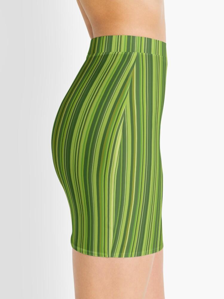 Alternative Ansicht von Viele bunte Streifen in Grün Minirock