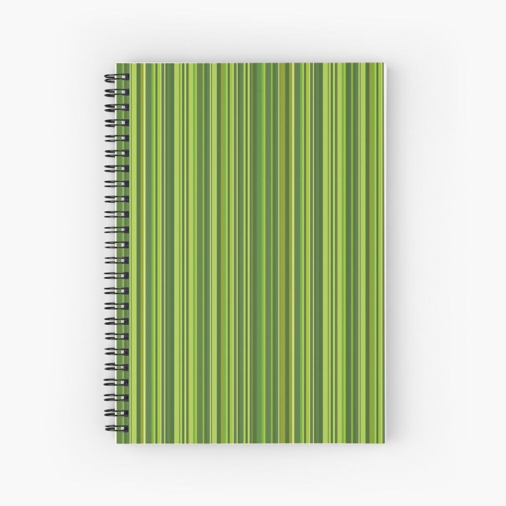 Viele bunte Streifen in Grün Spiralblock
