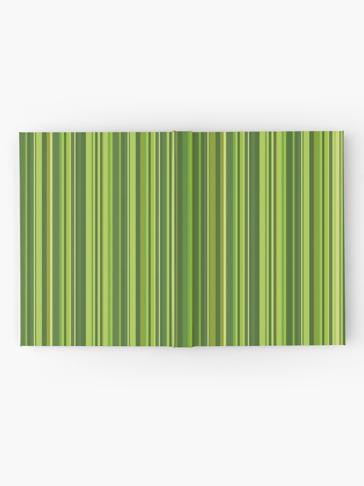 Alternative Ansicht von Viele bunte Streifen in Grün Notizbuch