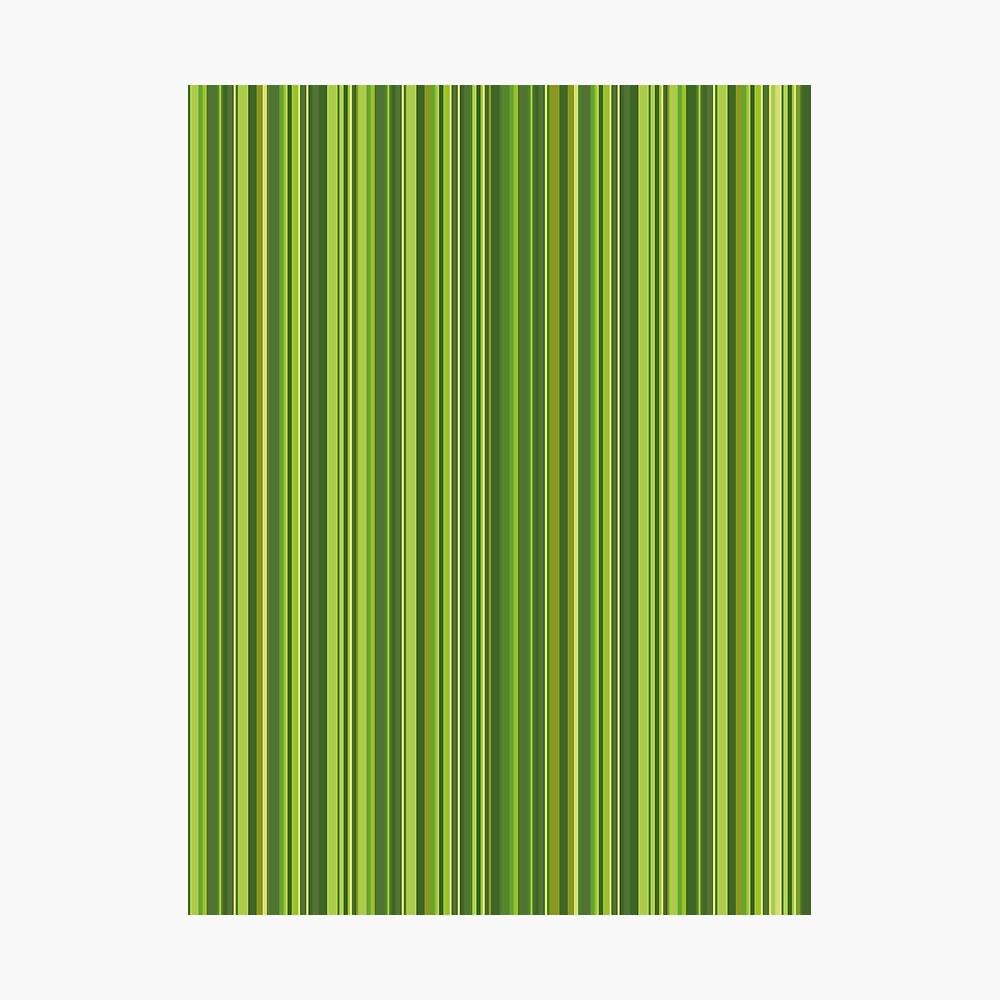 Viele bunte Streifen in Grün Fotodruck