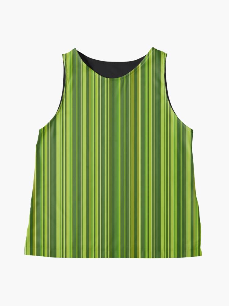 Alternative Ansicht von Viele bunte Streifen in Grün Ärmelloses Top