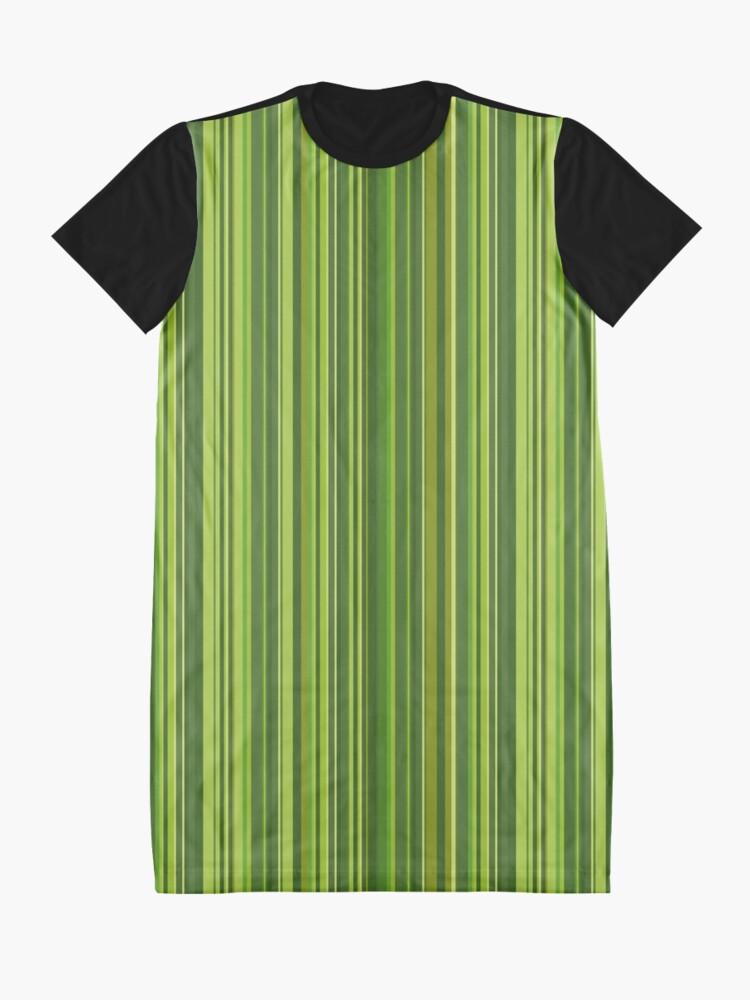 Alternative Ansicht von Viele bunte Streifen in Grün T-Shirt Kleid