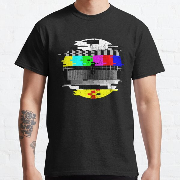 Vintage Glitched TV Test Pattern Graphic Classic T-Shirt