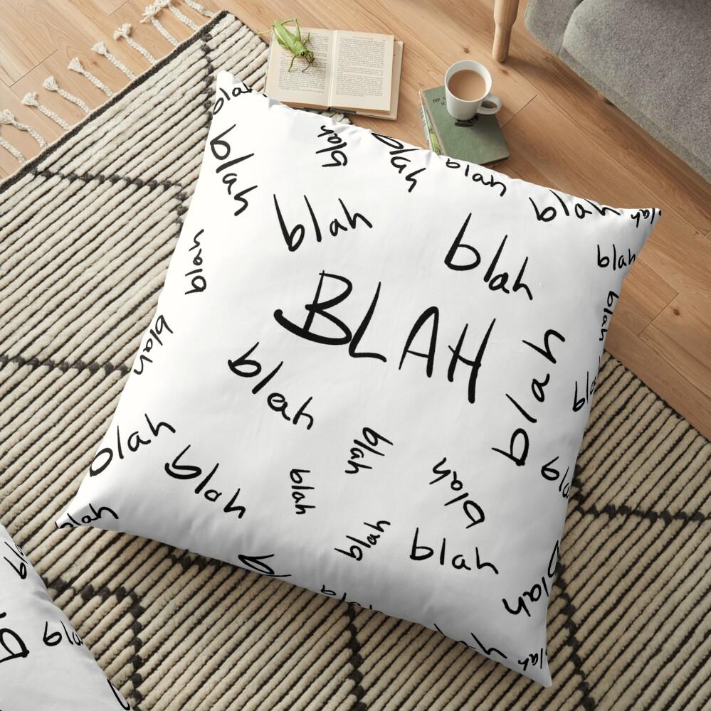 Blah, Blah, Blah Pattern Floor Pillow