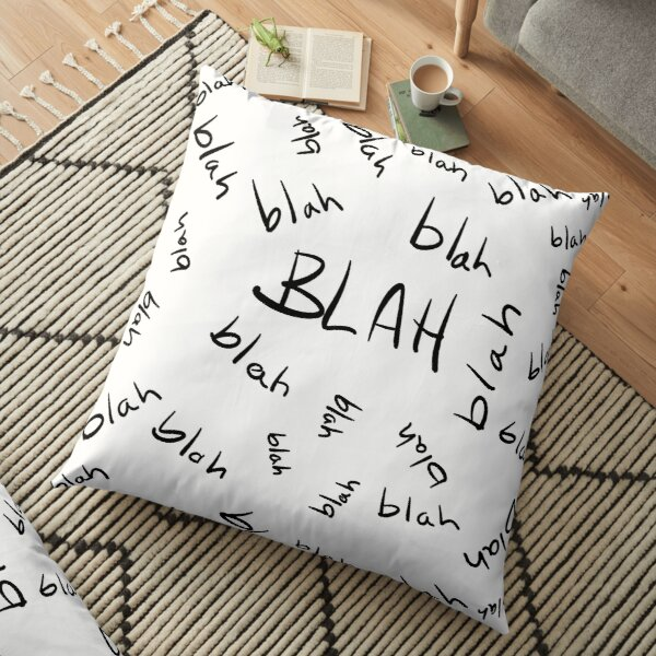 Blah, Blah, Blah Pattern Floor Pillow