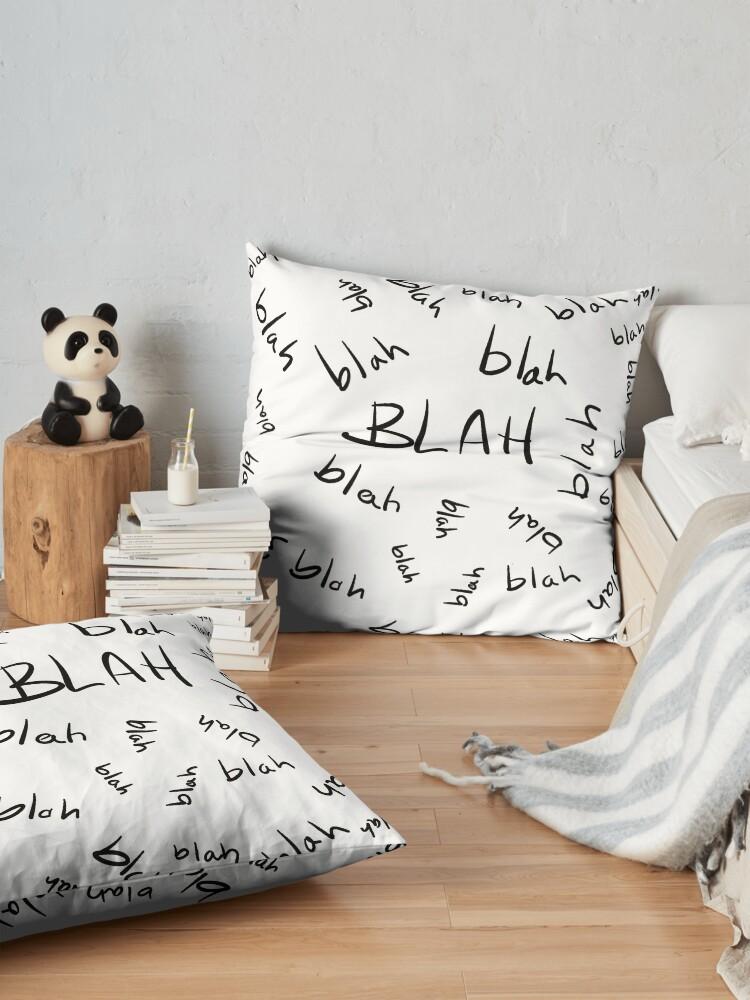 Alternate view of Blah, Blah, Blah Pattern Floor Pillow