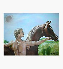 This is an homage to Patrick Swayze Photographic Print