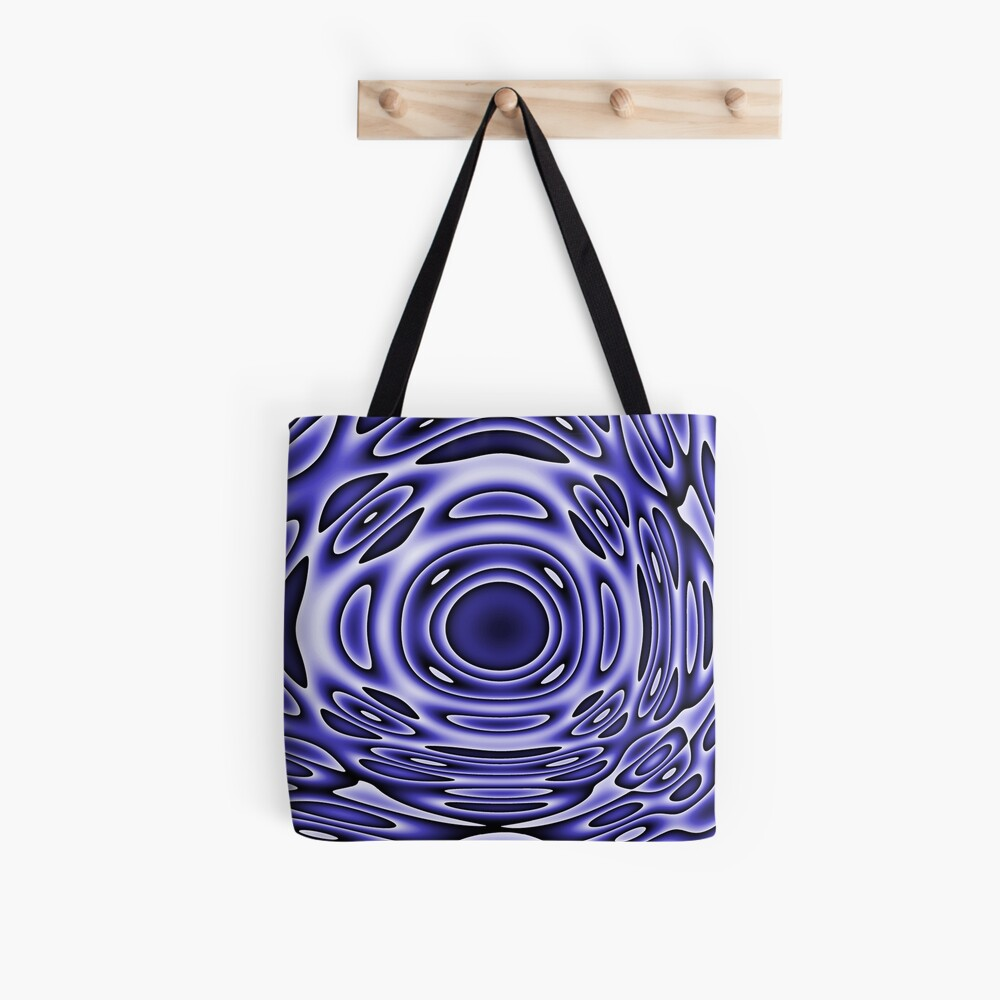 Psychodelia Purple Black and White Groovy Art - Trippy Gift Tote Bag